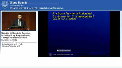 Grand Rounds: Individualizing Diagnosis and Therapy for IBS