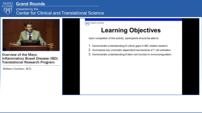 Grand Rounds (CME): Overview of the Mayo IBD Translational Research Program