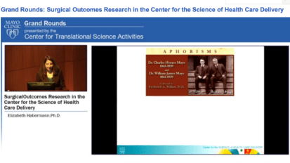 Grand Rounds (CME): Surgical Outcomes Research in the Center for the Science of Health Care Delivery