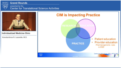 Grand Rounds (CME): Individualized Medicine Clinic