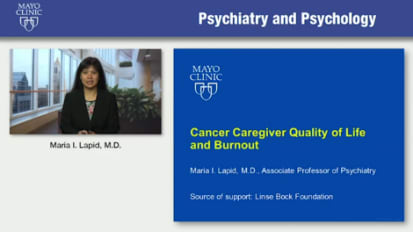 Cancer caregiver quality of life and burnout