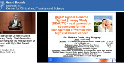 Grand Rounds — Breast Cancer Genome-Guided Therapy Study: Next-Generation Sequencing for the Management of Women With High-Risk Breast Cancer