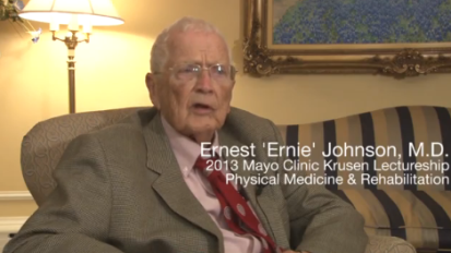 Ernest Ernie Johnson MD - 2013 Frank Krusen Lectureship