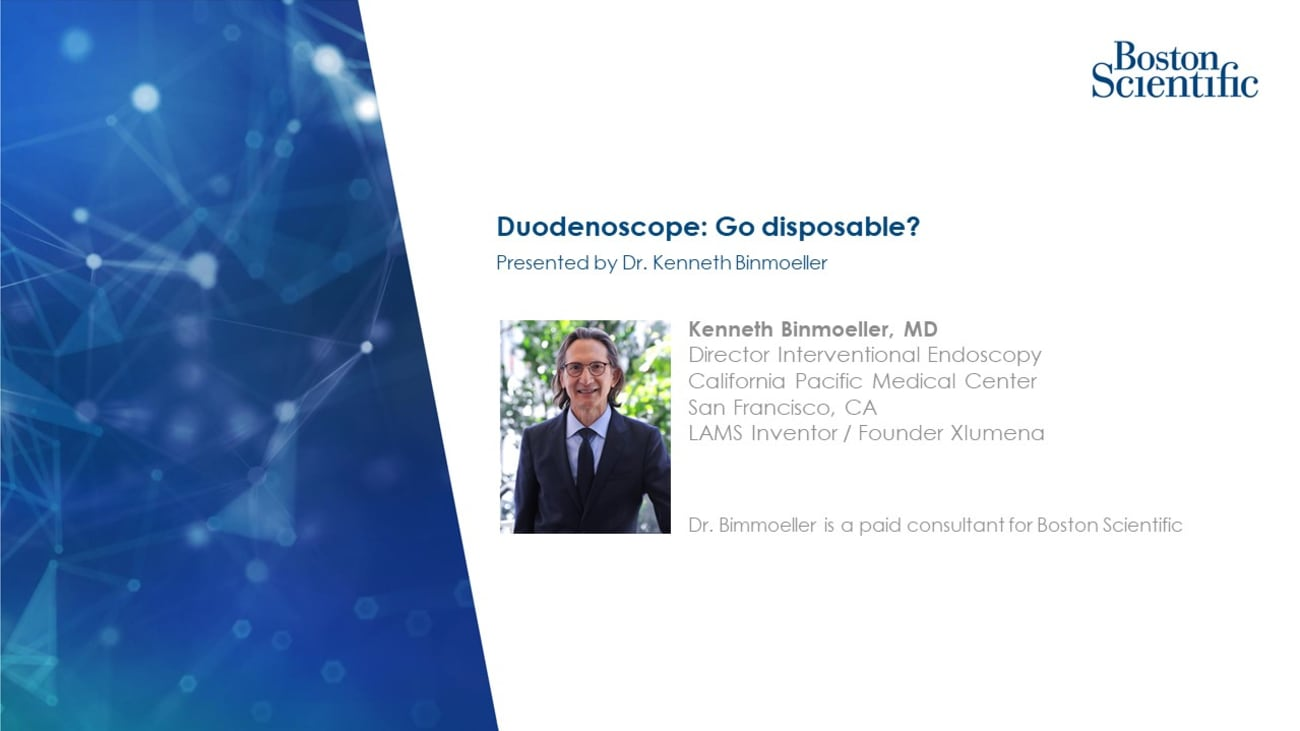 Duodenoscope: Go disposable?