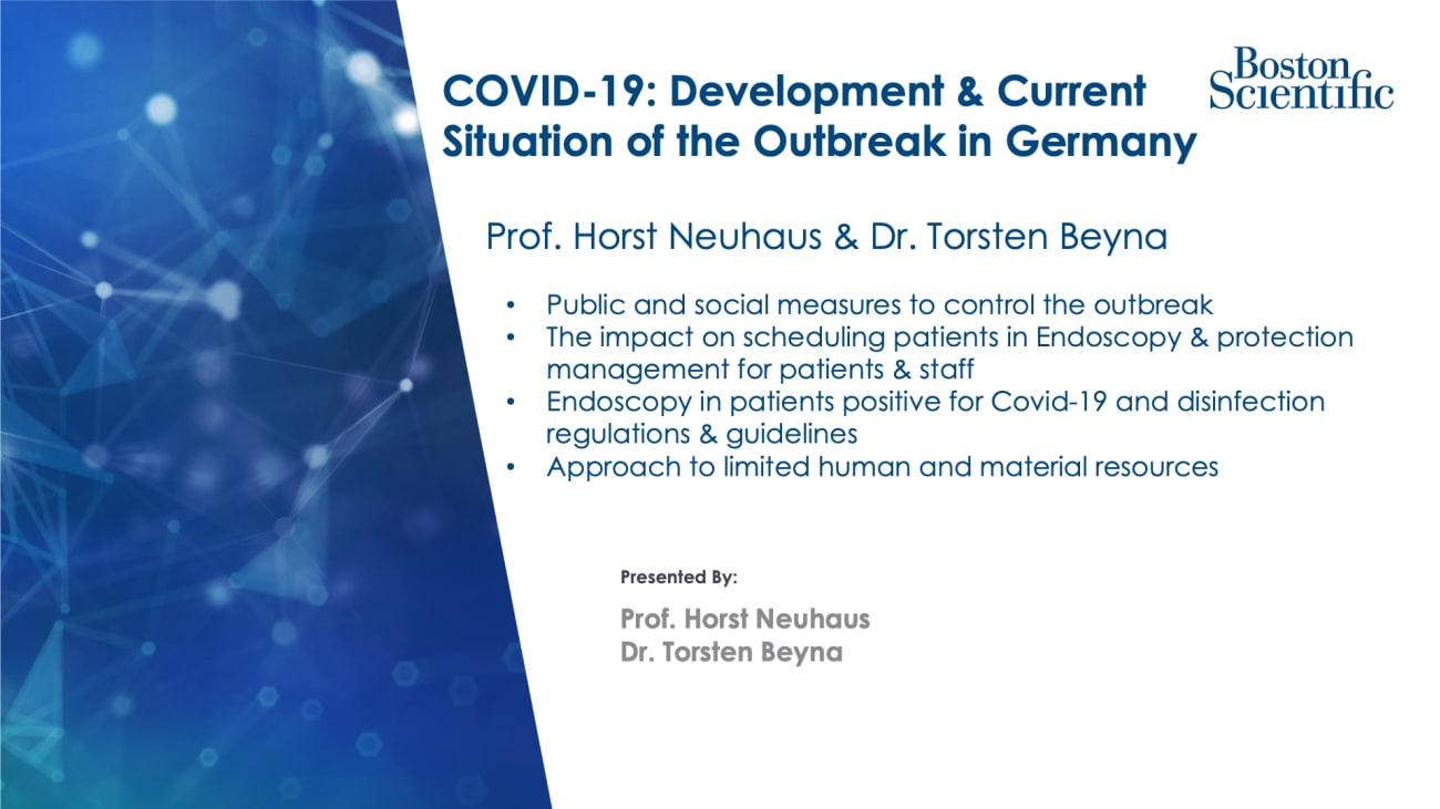 COVID-19: Development & Current Situation of the Outbreak in Germany