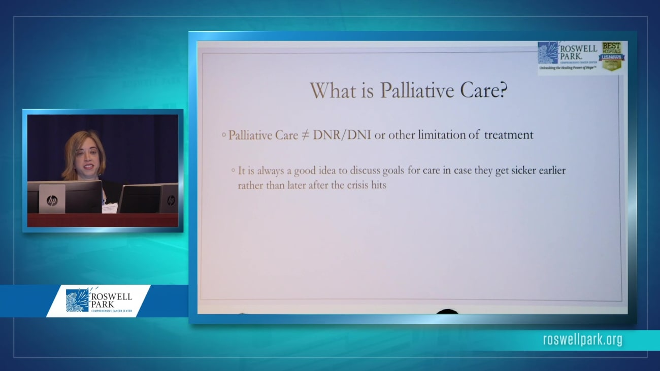 Palliative Care for Pancreatic Cancer