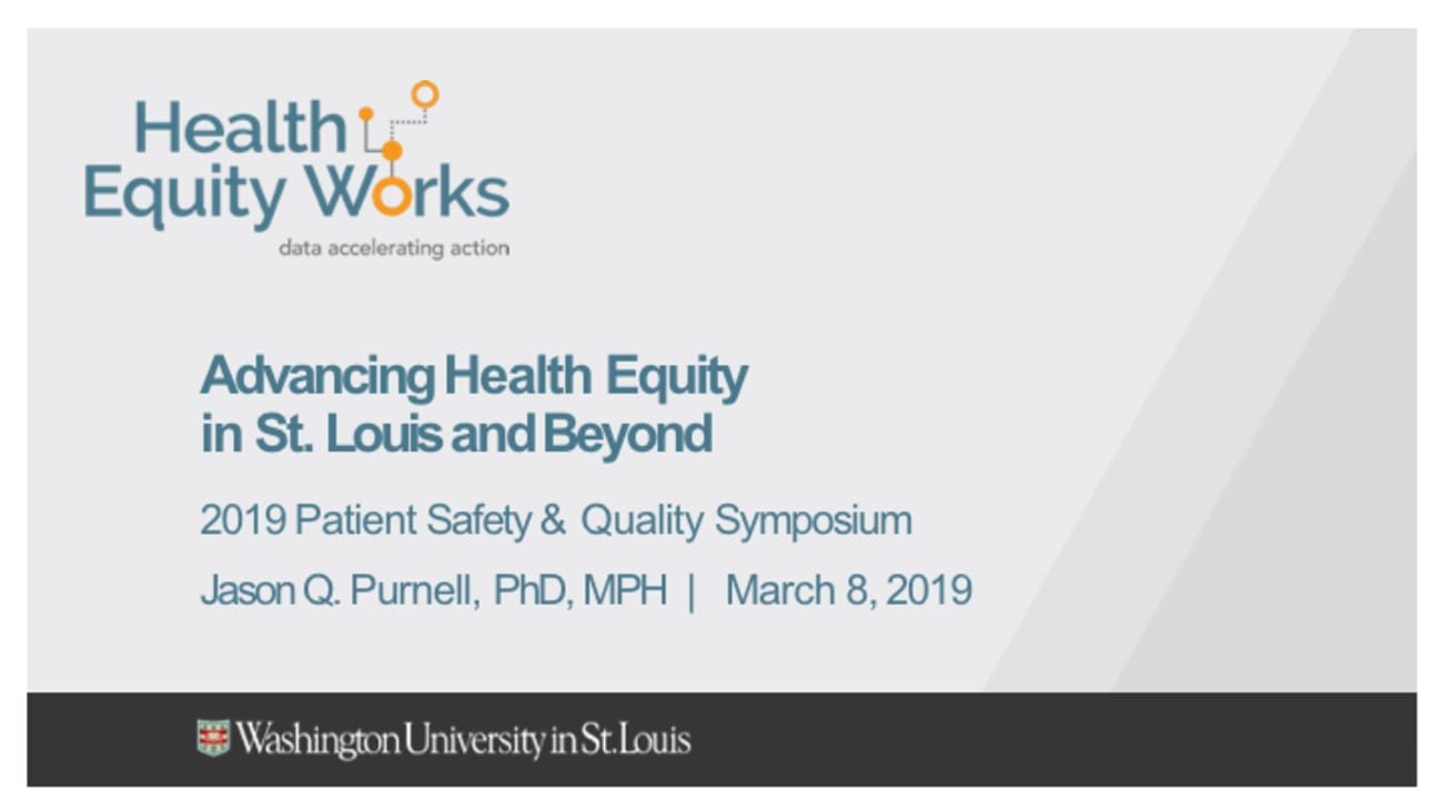 Advancing Health Equity in St. Louis and Beyond