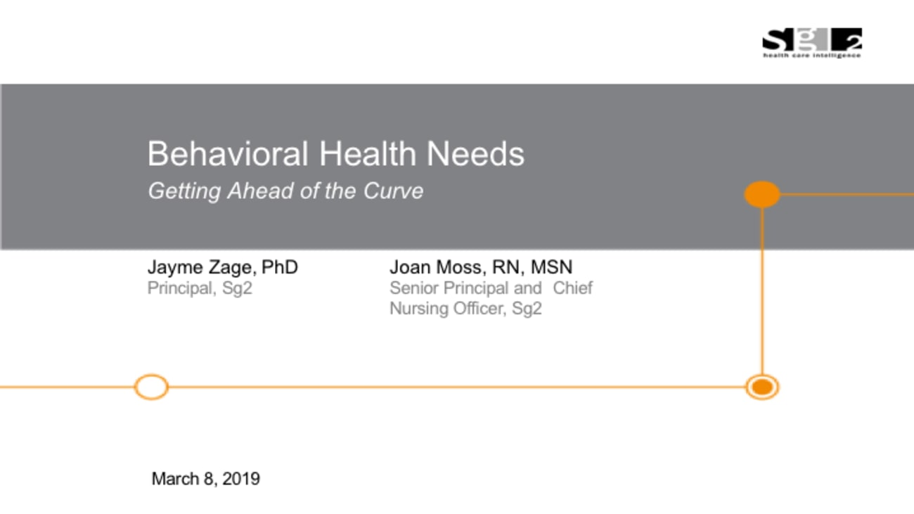 Behavioral Health Needs: Getting Ahead of the Curve – 2019 PS&Q Symposium