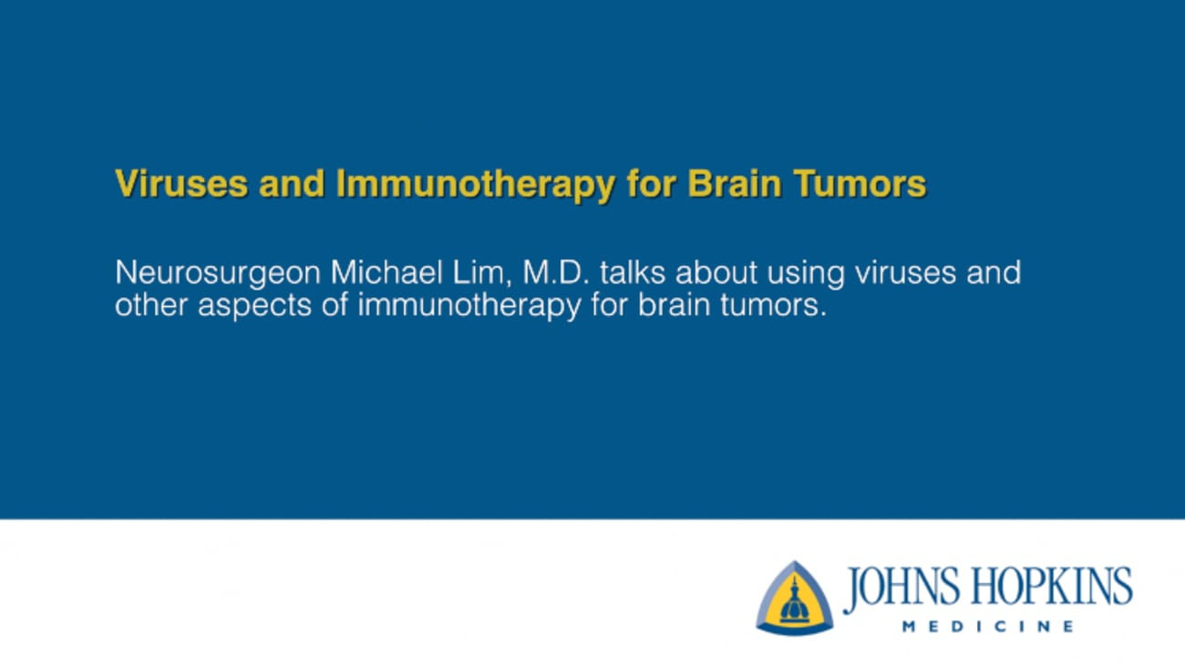 Viruses and Immunotherapy for Brain Tumors