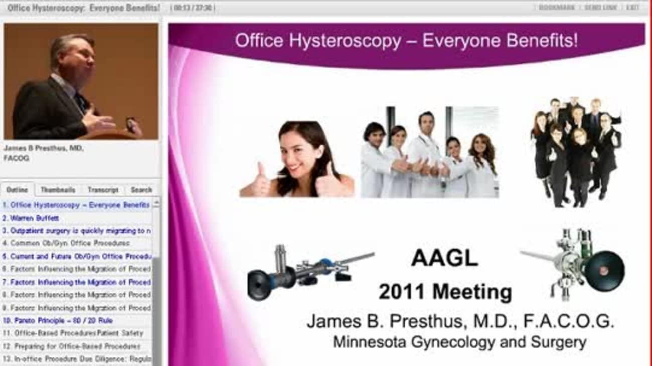 AAGL 2011: Office Hysteroscopy