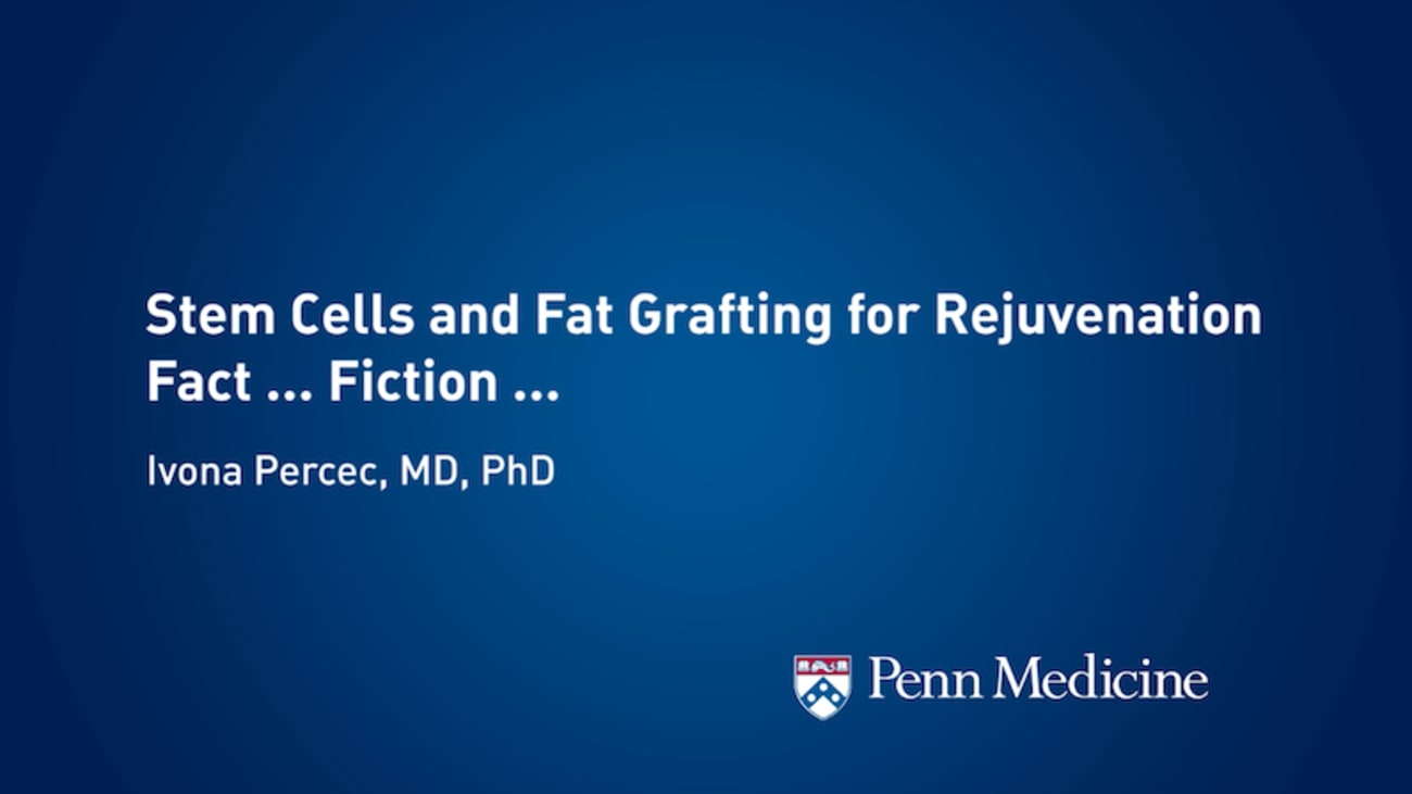 Stem Cells and Fat Graft Injections to the Face: Fact and Fiction