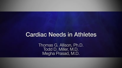 Cardiac needs in athletes
