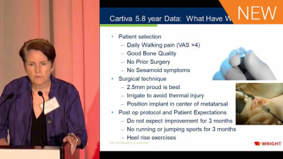 CARTIVA®: 5.8-Year Follow Up Data - What Have We Learned? [AP-012075A]