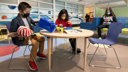 A new emergency waiting room, designed just for kids