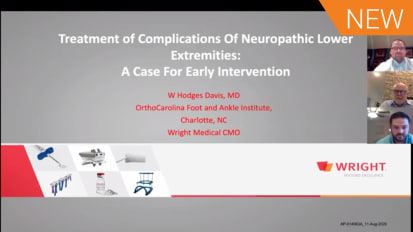 Neuropathic Reconstruction: Indications and Techniques for Early Intervention with Dr. W. Hodges Davis and Dr. Jeffrey Loveland [AP-014207A]