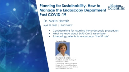 Planning for Sustainability, How to Manage the Endoscopy Department Post COVID-19