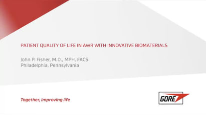 Patient Quality of Life in AWR and the Impact of Innovative Biomaterials