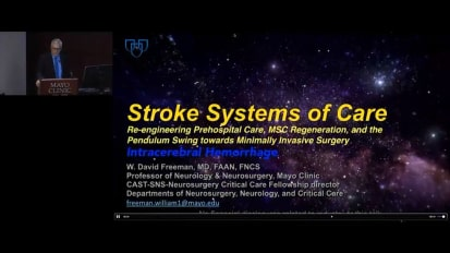 Stroke systems of care