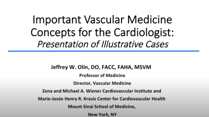 Important Vascular Medicine Concepts for the Cardiologist