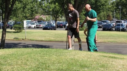 Zachary Pickett Walks after Diving Accident - UC Davis Children's Hospital