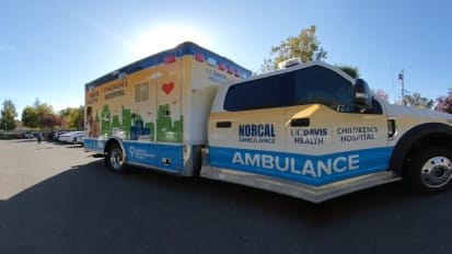 360° Video: Explore the New Ambulance for UC Davis Children's Hospital