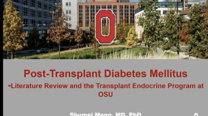 Post-Transplant Diabetes Mellitus