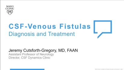 CSF-venous fistulas diagnosis and treatment