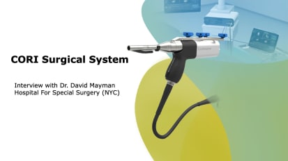 CORI Surgical System - Interview with Dr. David Mayman
