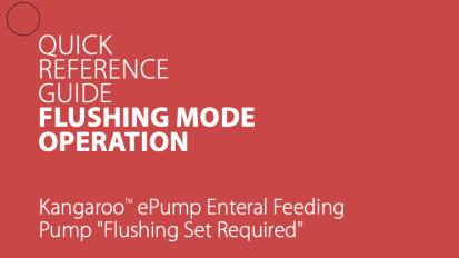 Kangaroo™ ePump Flushing Mode Operation