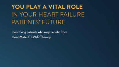 HeartMate 3™ LVAD Therapy