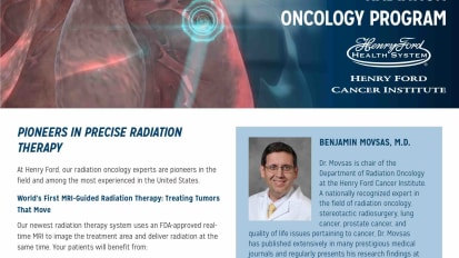 Henry Ford Radiation Oncology Program