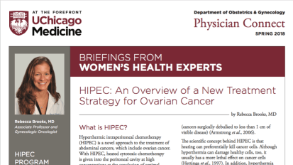 Physician Connect Newsletter on HIPEC – Spring 2018