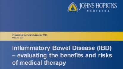 Weighing the Options: The Benefits and Risks of Treatment in IBD