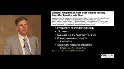 Endotherapy for Benign Biliary Strictures Secondary to Chronic Pancreatitis, by Paul Tarnasky, MD