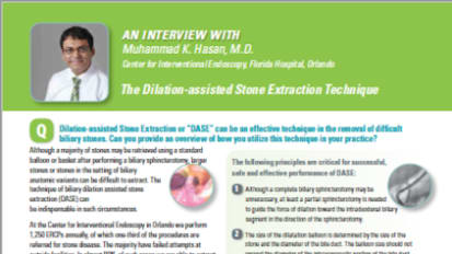 An Interview with Muhammad K. Hasan, M.D. on the Dilation Assisted Stone Extraction Technique