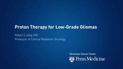 Proton Therapy for Low-­Grade Gliomas
