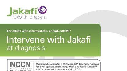 Jakafi Myelofibrosis Intermediate or High Risk Brochure