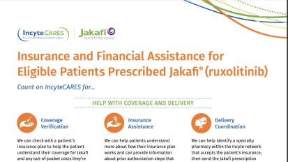 IncyteCARES Patient Assistance Flashcard