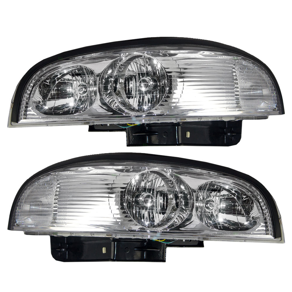 Picture of 97 05 buick park avenue new pair set headlight headlamp lens with bracket