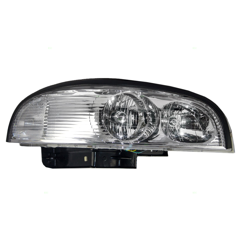 97 05 buick park avenue passengers headlight assembly headlamp w bracket 25689660