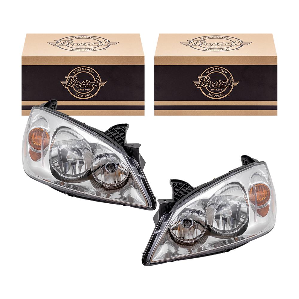 New Pair Set Headlight Headlamp Lens Housing DOT 2004 2005 2006 Aftermarket