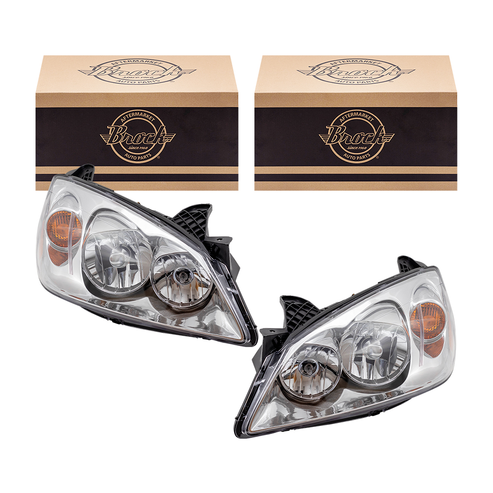 NEW Headlights 05-10 PONTIAC G6 Driver /& Passenger Pair Set Both Headlamps
