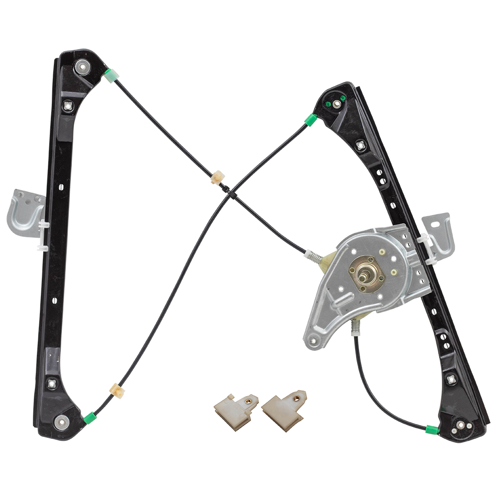 ... Alero Grand Am Sedan Drivers Front Manual Window Lift Regulator  Assembly and 2 Sash Connector Clips