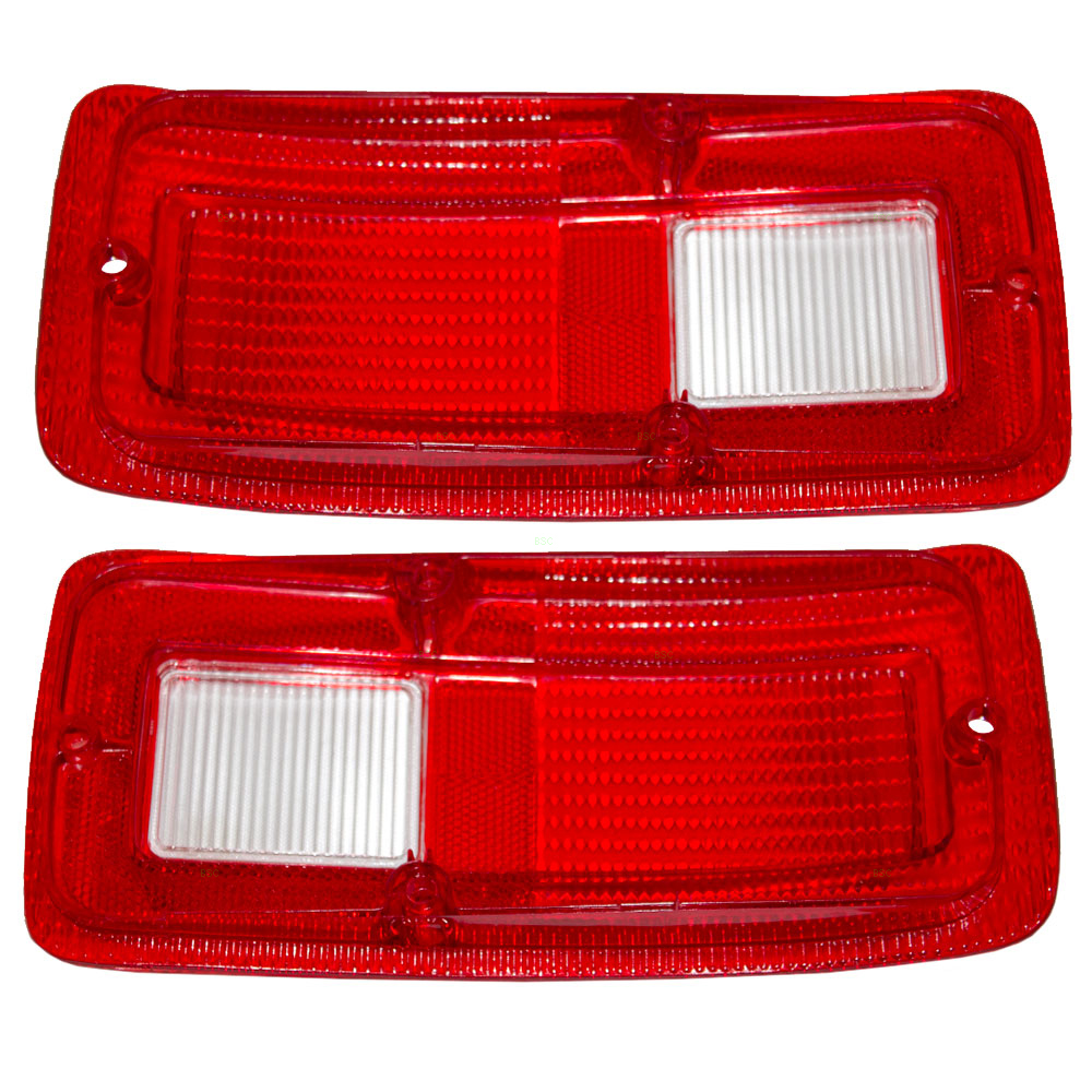 ... Dodge Plymouth Van New Pair Set Taillight Taillamp Lens DOT Aftermarket  Replacement