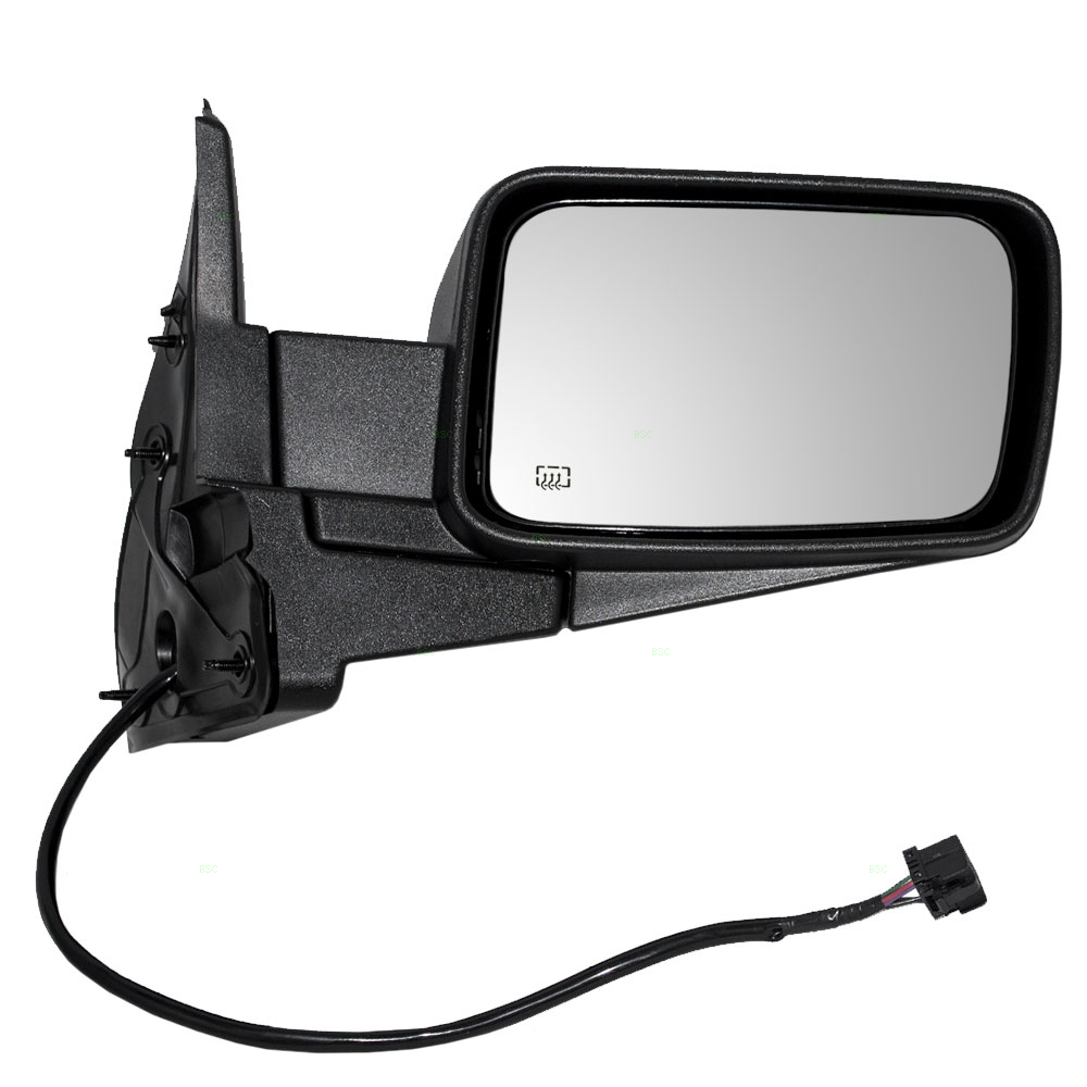 Drivers Power Side View Mirror Heated Textured Replacement for Jeep SUV 55396637AD