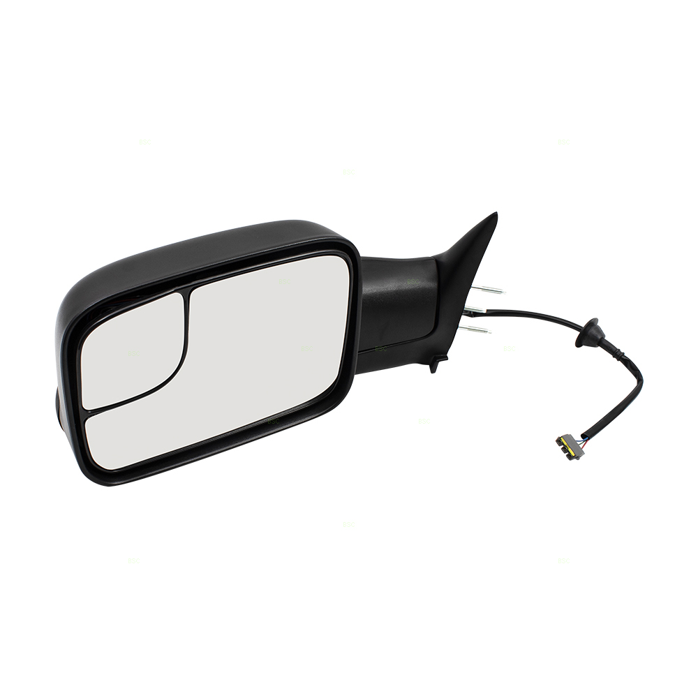 94 97 dodge ram pickup truck drivers side power tow 7x10 flip up performance upgrade mirror w. Black Bedroom Furniture Sets. Home Design Ideas