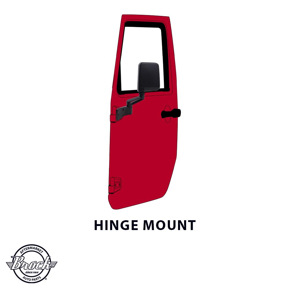 ... 87-95 & 97-02 Jeep Wrangler Passengers Side View Manual Upgrade Mirror  Door ...