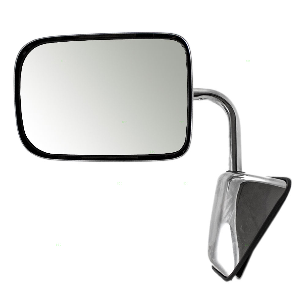 Passengers Manual Side View Chrome Mirror Replacement for Dodge Pickup Truck SUV 55074998