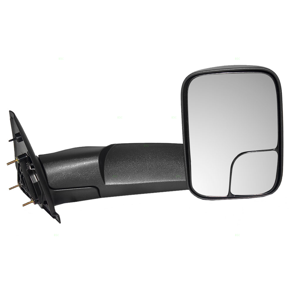 Drivers Manual Tow Side Mirror 7x10 Flip-Up Textured Replacement for Dodge Pickup Truck 55077493AN