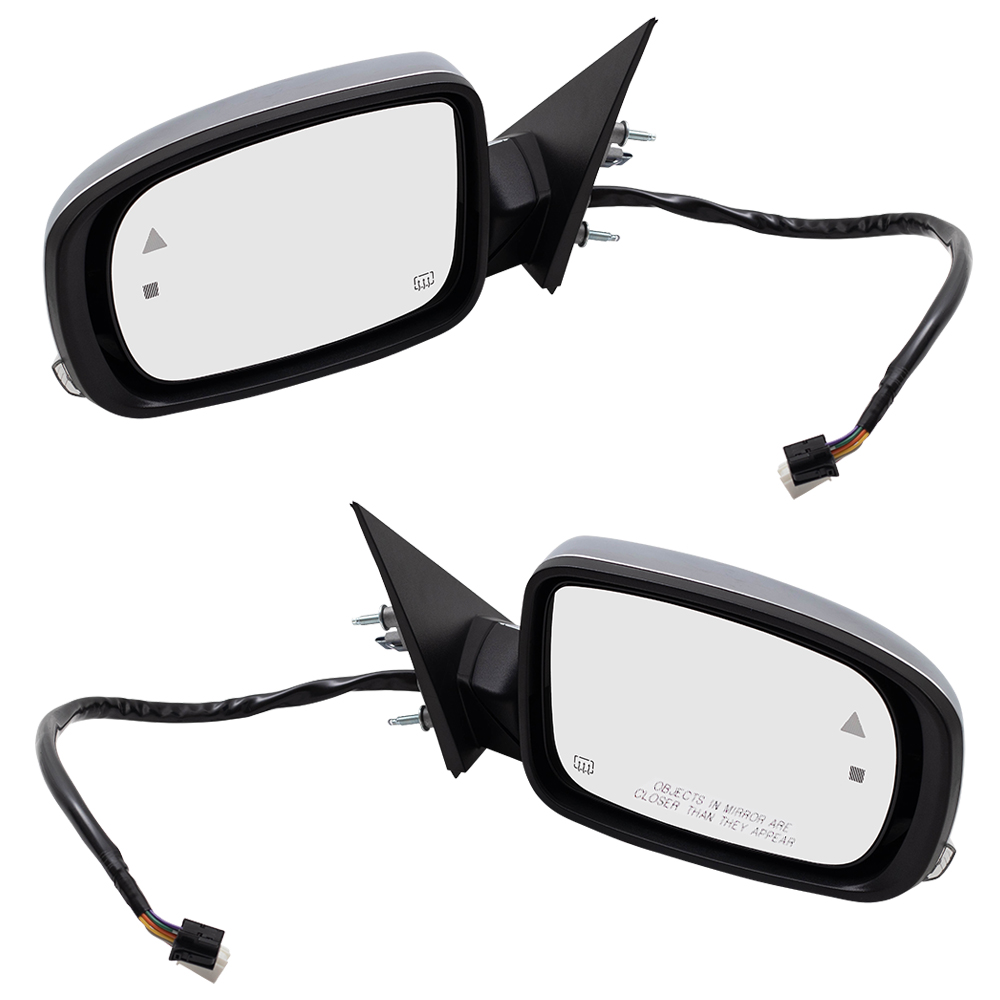 Pair Power Side Mirrors Heated Signal Puddle Lamp Memory For 11 19 Chrysler 300 Ebay
